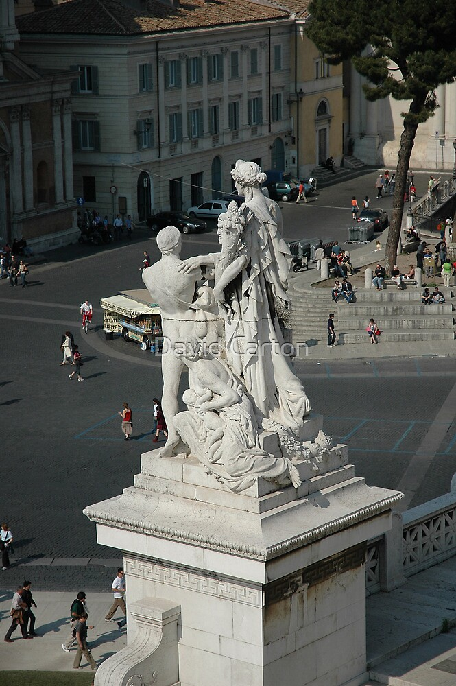 Victor Emmanuel monument in Rome, Italy by David Carton