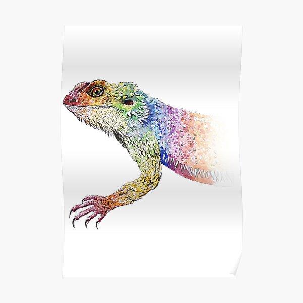 bearded dragon rainbow Mix Poster