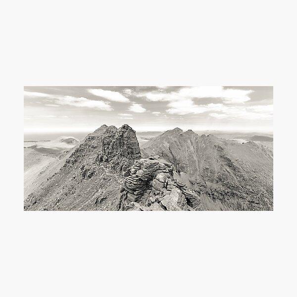 Corrag Bhuidhe Pinnacles, An Teallach Photographic Print