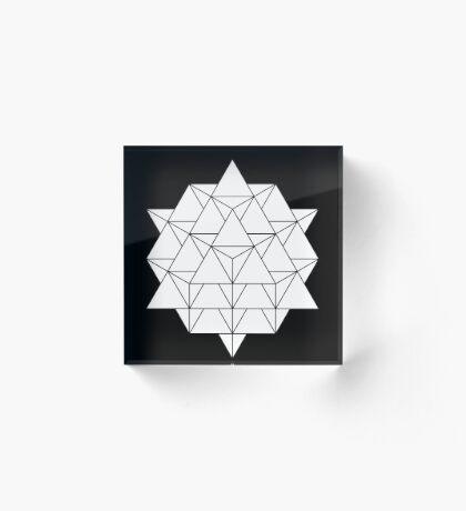 64 Tetrahedron Acrylic Block