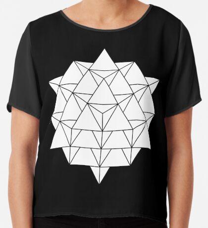64 Tetrahedron Chiffon Top