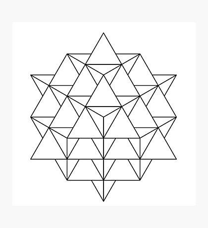 64 Tetrahedron Photographic Print