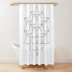 64 Tetrahedron Shower Curtain
