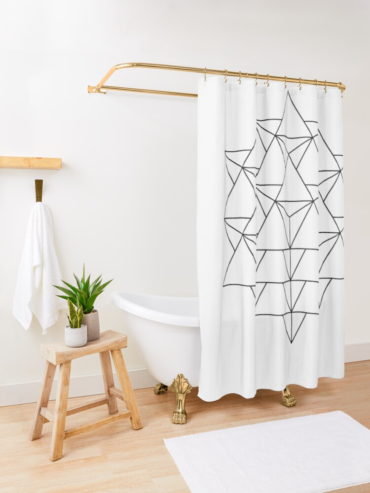 Alternate view of 64 Tetrahedron Shower Curtain