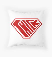 Thick SuperEmpowered (Red) Throw Pillow