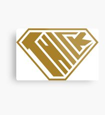 Thick SuperEmpowered (Gold) Metal Print