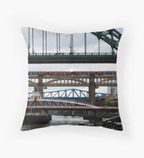 Newcastle Bridges Throw Pillow