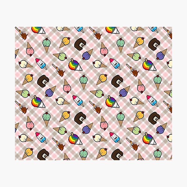 Neapolitan Gingham Frosty Treats Photographic Print