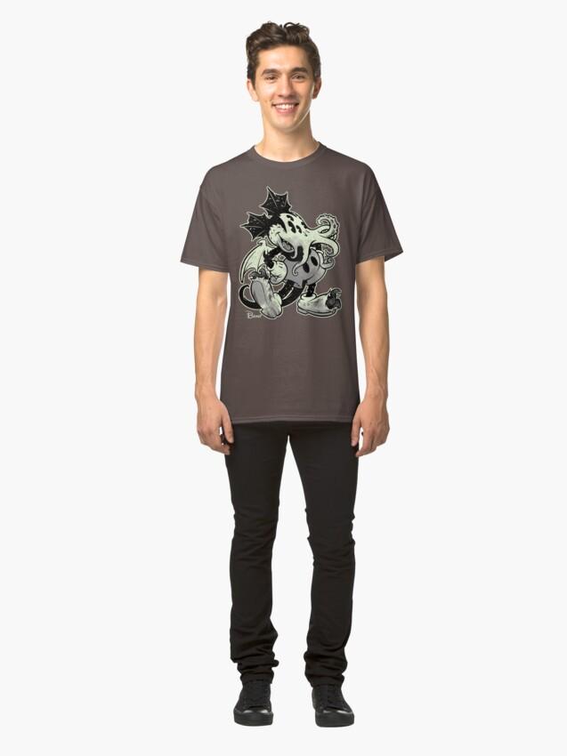 Alternative Ansicht von MICKTHULHU MOUSE (monochrome) Classic T-Shirt