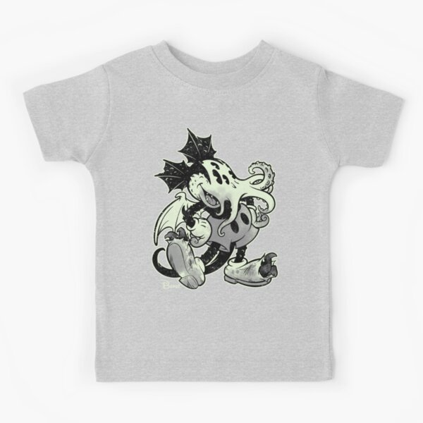 MICKTHULHU MOUSE (monochrome) Kids T-Shirt