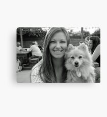 me and my gracie Canvas Print
