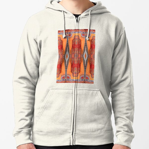 #Art #decoration #pattern #religion ancient design painting old Zipped Hoodie