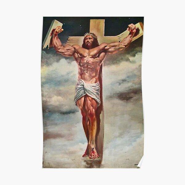 Musculo jesucristo Póster
