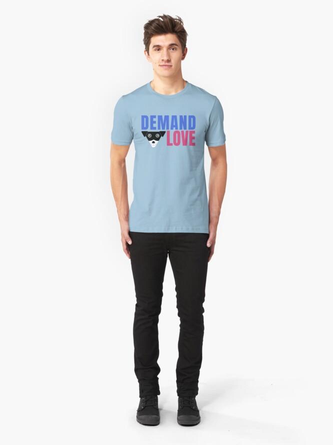 Alternate view of Carl Demands Love | Demand Love! Slim Fit T-Shirt