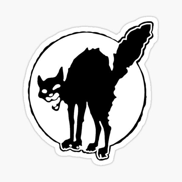 Gato Negro Pegatina