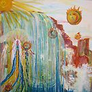 Elemental Lady .Fire,Water,Earth,Air by eoconnor