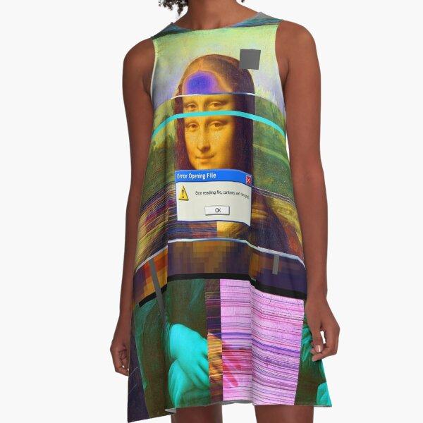 Mona.Lisa._corrupt A-Line Dress