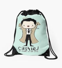 Castiel - Angel of the Lord Drawstring Bag