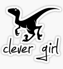 Clever Girl Left-Facing Raptor Sticker