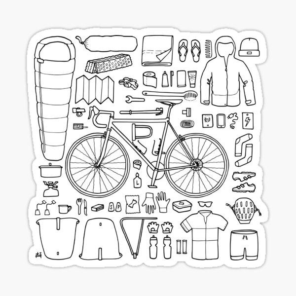 Cycling Gravel bike bikepacking cx white sticker
