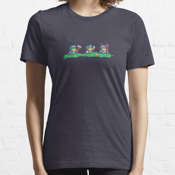 Medieval Duck Knights Pixel Art Essential T-Shirt