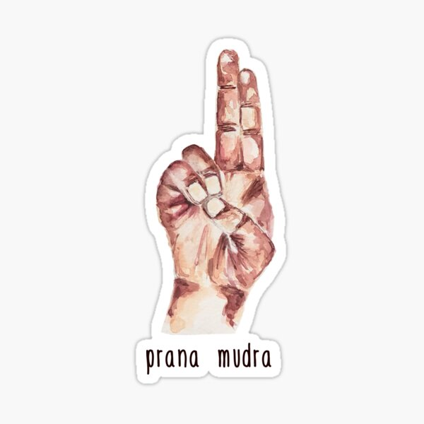 Prana Mudra with text Sticker