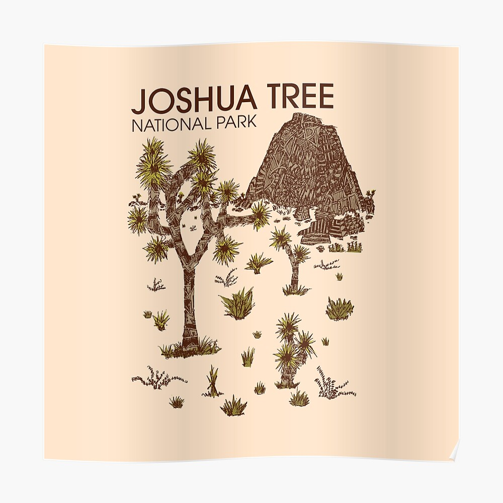 Joshua-Baum-Nationalpark Poster