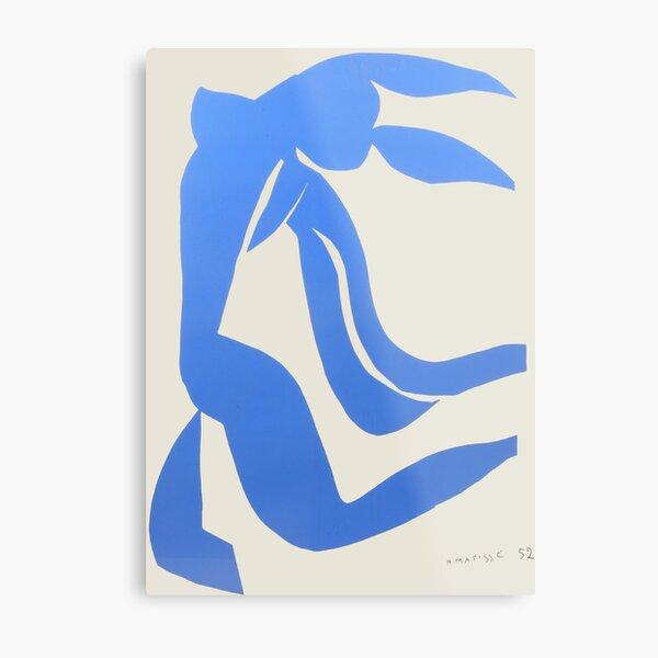 Henri Matisse,Le chevelure från 1952, Blue Hair Artwork, Men, Women, Youth Metal Print