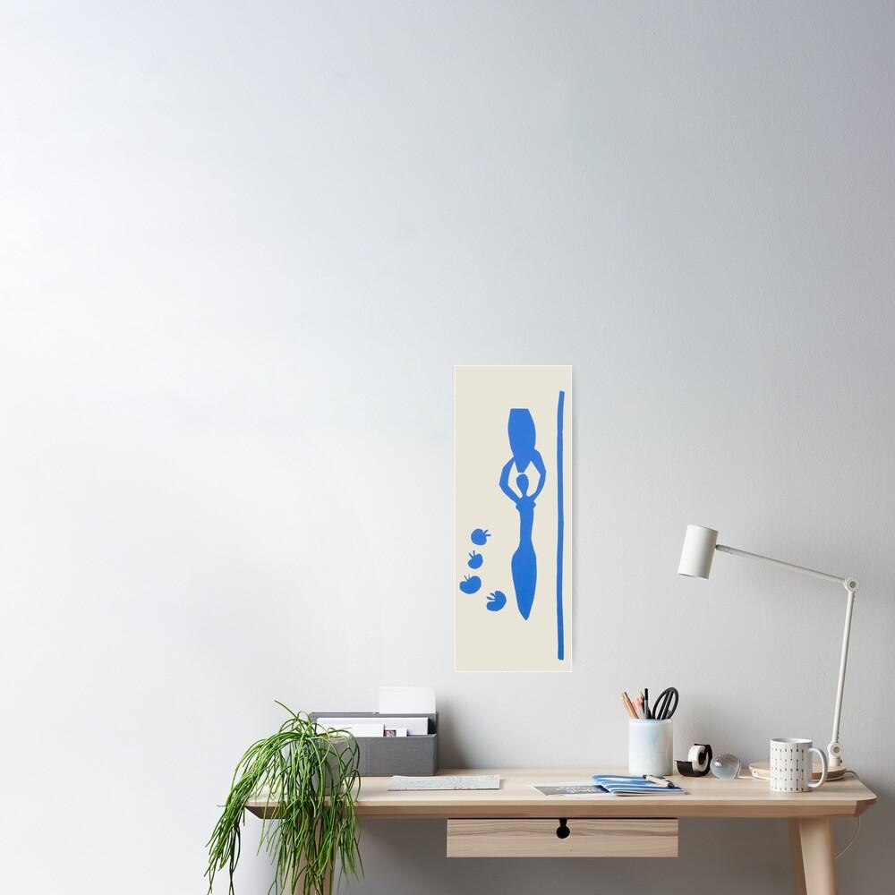 Poster «Henri Matisse, Femme à l & amp; # 39; amphore 1952, Woman with amphora Blue Artwork, Hommes, Femmes, Jeunes»