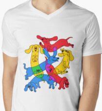 Camiseta de cuello en V Amante de weenie