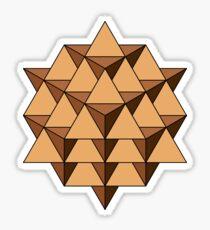 64 Tetrahedron 001 Sticker