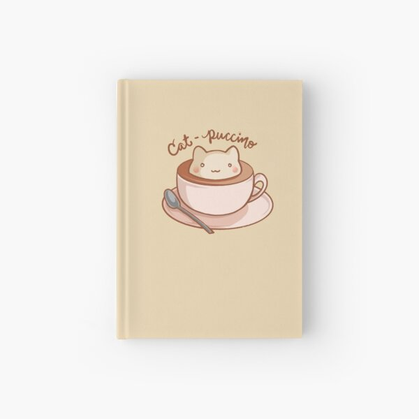 Cat-puccino Hardcover Journal