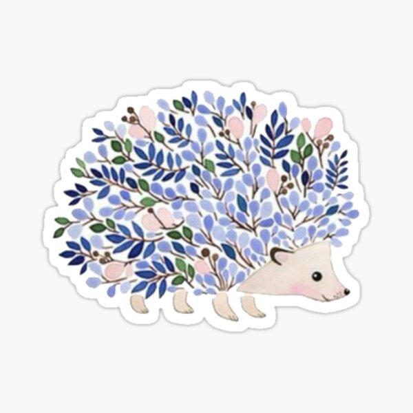 purple plant hedgehog  Sticker