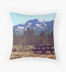 White & Green Tahoe Throw Pillow