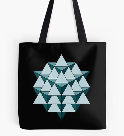64 Tetrahedron - Cool Blues Tote Bag