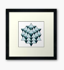 64 Tetrahedron - Cool Blues Framed Print