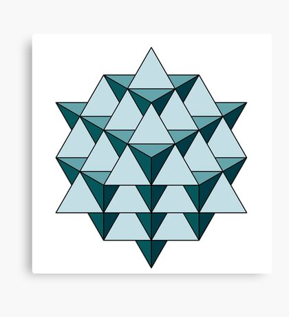 64 Tetrahedron - Cool Blues Canvas Print