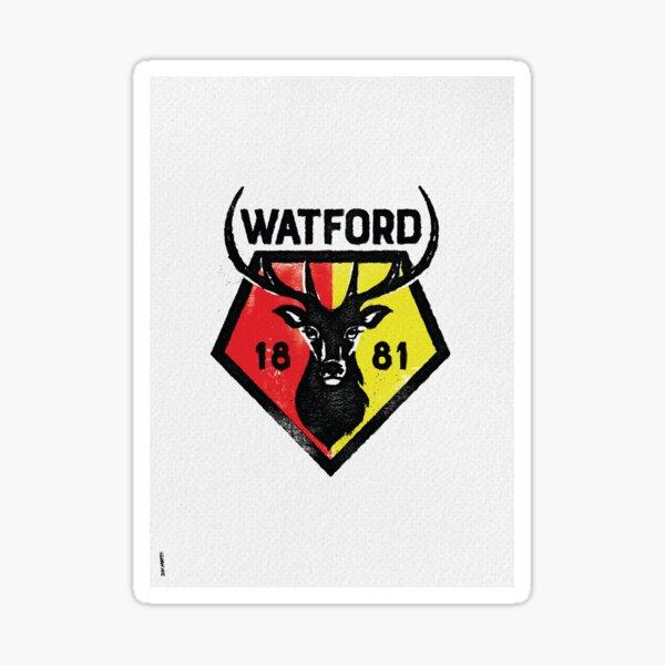 Reimagined Modern Classic Watford Football Badge Sticker
