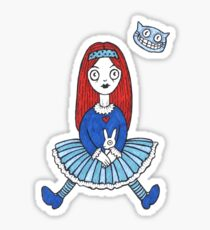 Red Haired Alice (Tee) Sticker