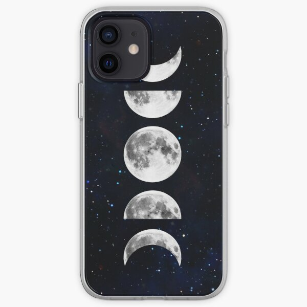 Phases of the Moon Galaxy iPhone Soft Case
