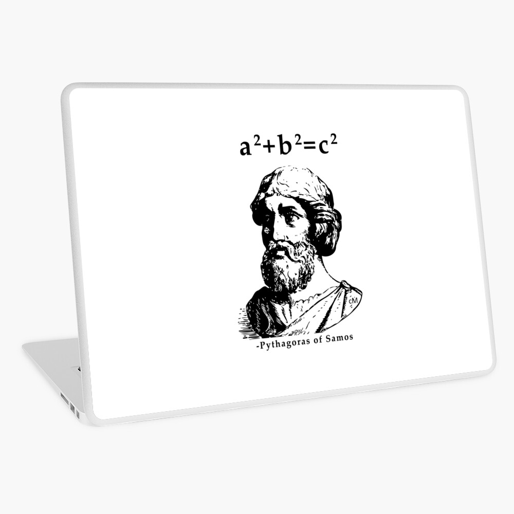 Calvin Mira T Shirt Pythagoras Of Samos A2 B2 C2 Pythagoras T Shirts Redbubble Laptop Skin By Rule Redbubble
