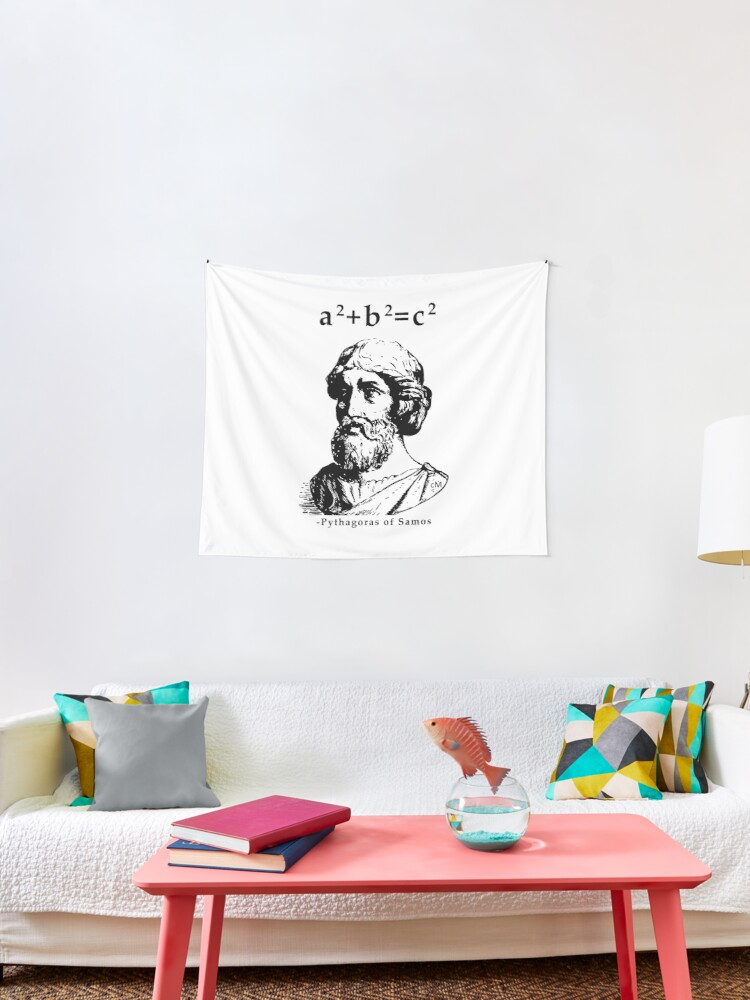 Calvin Mira T Shirt Pythagoras Of Samos A2 B2 C2 Pythagoras T Shirts Redbubble Tapestry By Rule Redbubble