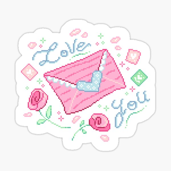 Love Letters Roses Sticker