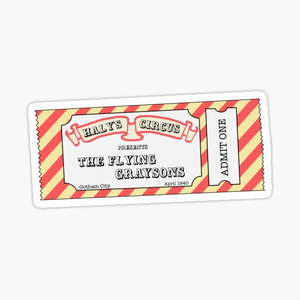 A ticket to Haly's Circus Sticker