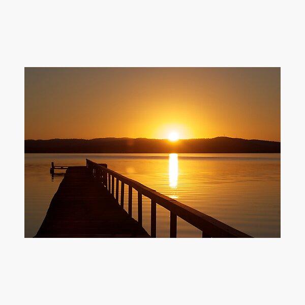 Sunset over Tuggerah Lakes - Long Jetty Photographic Print