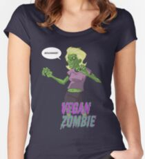 Lady Vegan Zombie Women's Fitted Scoop T-Shirt