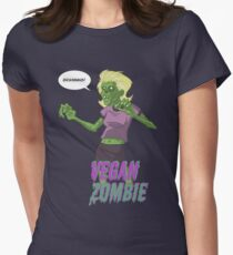Lady Vegan Zombie Women's Fitted T-Shirt