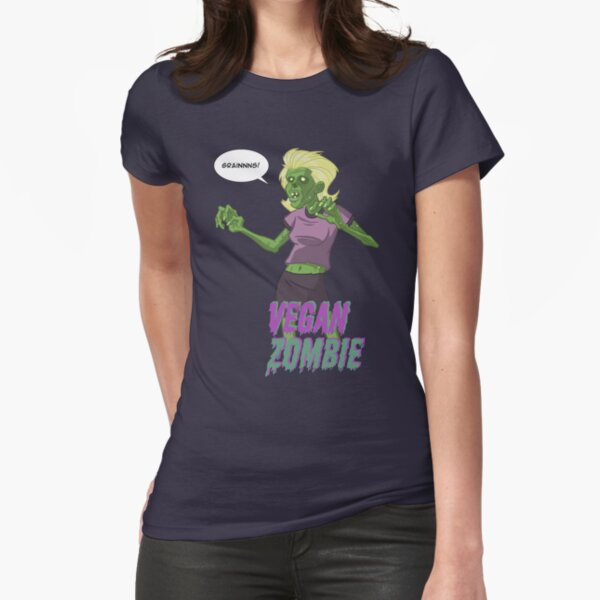 Lady Vegan Zombie Fitted T-Shirt