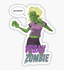 Lady Vegan Zombie Sticker