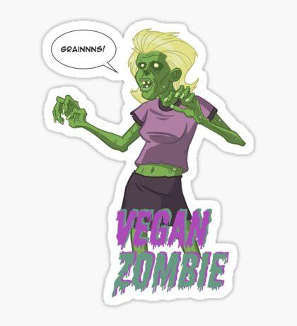 Lady Vegan Zombie Sticker